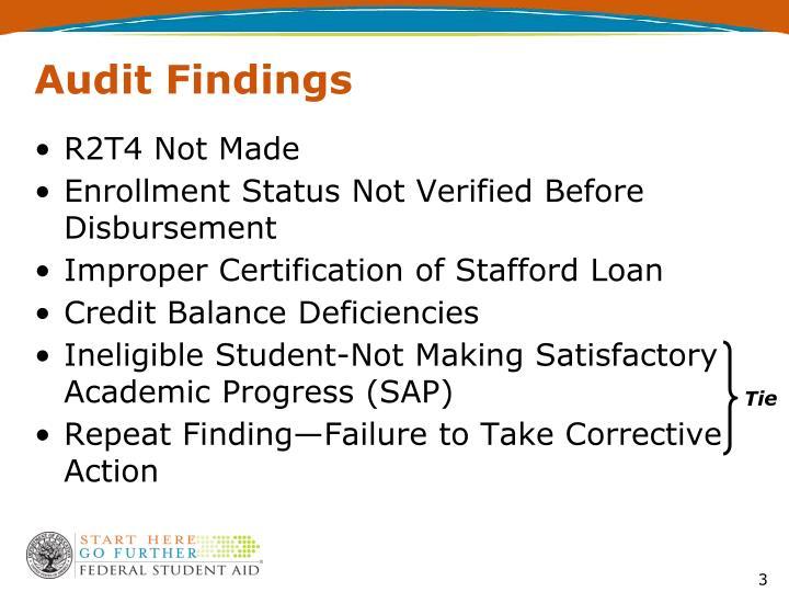 Audit findings1