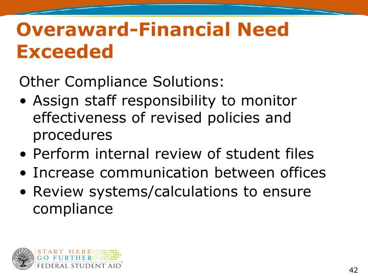Overaward-Financial Need Exceeded