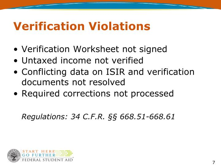 Verification Violations