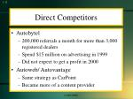 direct competitors