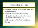 partnership w ford