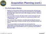 acquisition planning cont