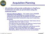 acquisition planning