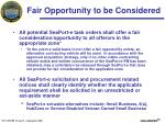 fair opportunity to be considered