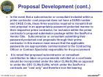 proposal development cont