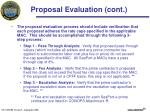 proposal evaluation cont3