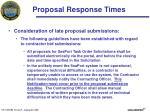 proposal response times1
