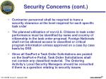 security concerns cont
