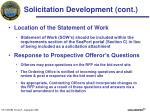 solicitation development cont