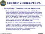 solicitation development cont1