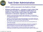 task order administration