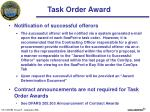 task order award