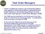 task order managers