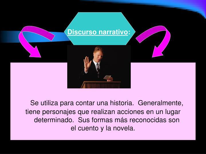 Discurso narrativo