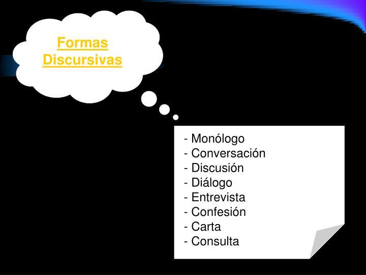 Formas Discursivas