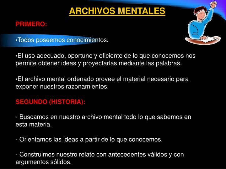 ARCHIVOS MENTALES