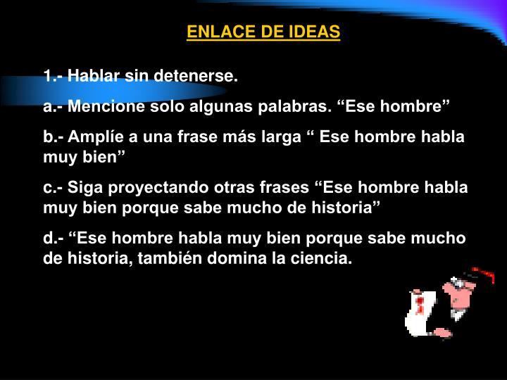 ENLACE DE IDEAS