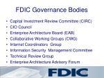 fdic governance bodies