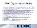 fdic organizational profile