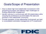 goals scope of presentation