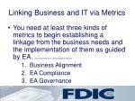linking business and it via metrics