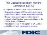 the capital investment review committee circ