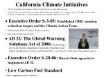 california climate initiatives
