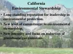 california environmental stewardship