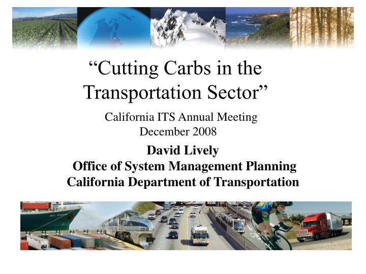 cutting carbs in the transportation sector n.