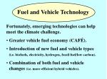 fuel and vehicle technology