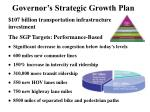 governor s strategic growth plan