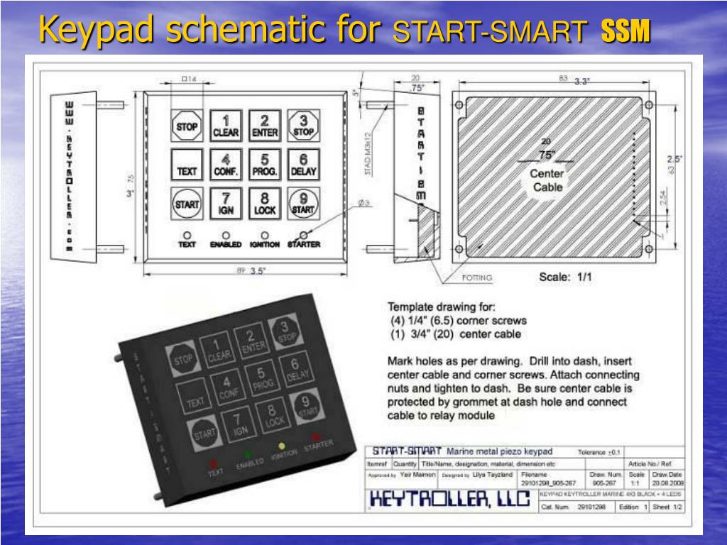 Keypad schematic for