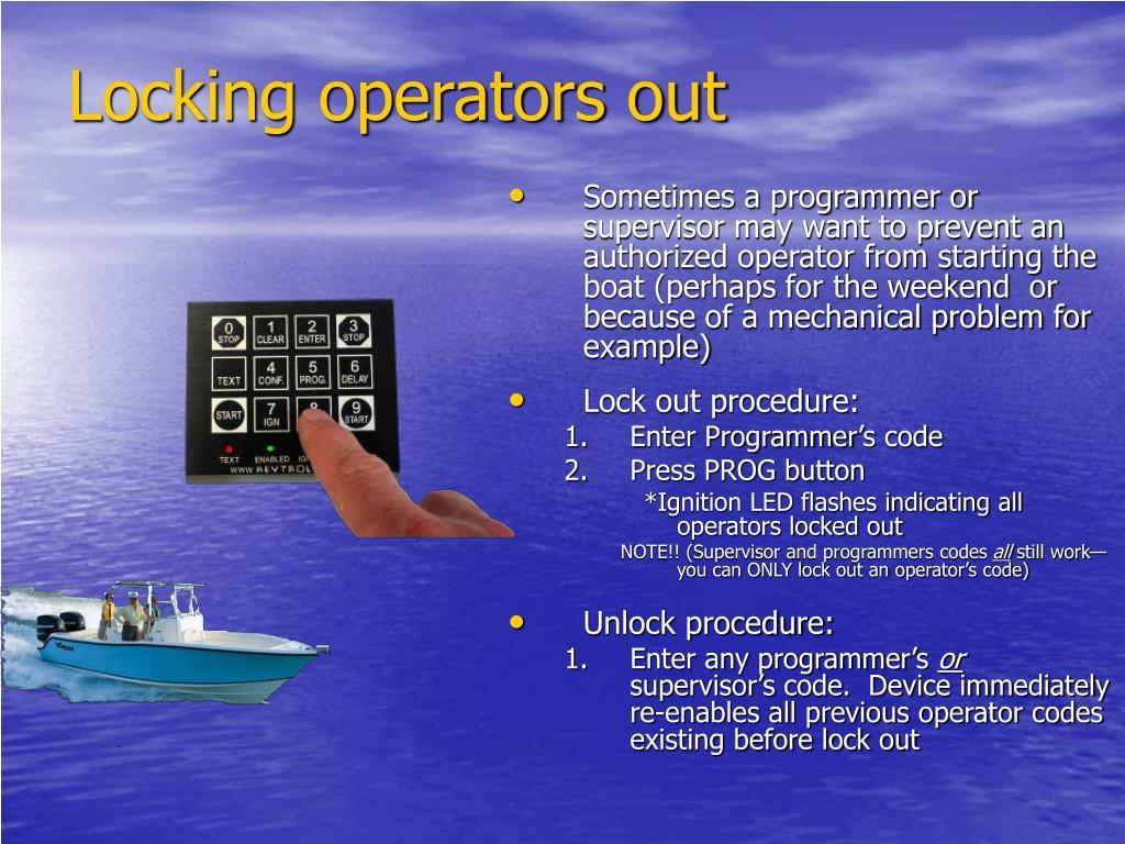 Locking operators out