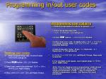 programming in out user codes