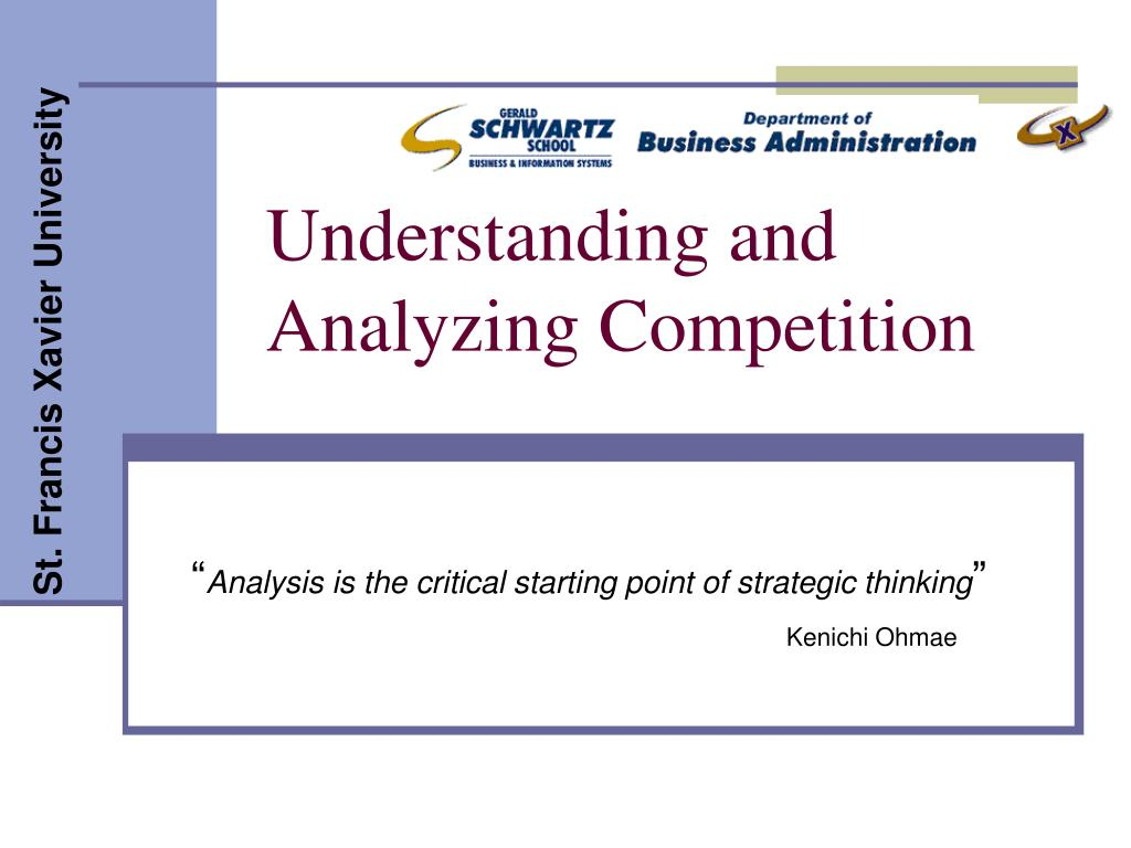 understanding and analyzing competition l.
