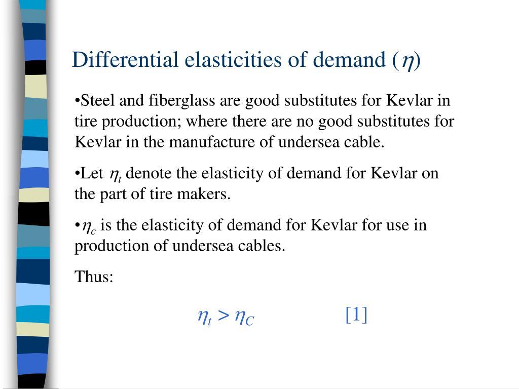 Differential elasticities of demand (
