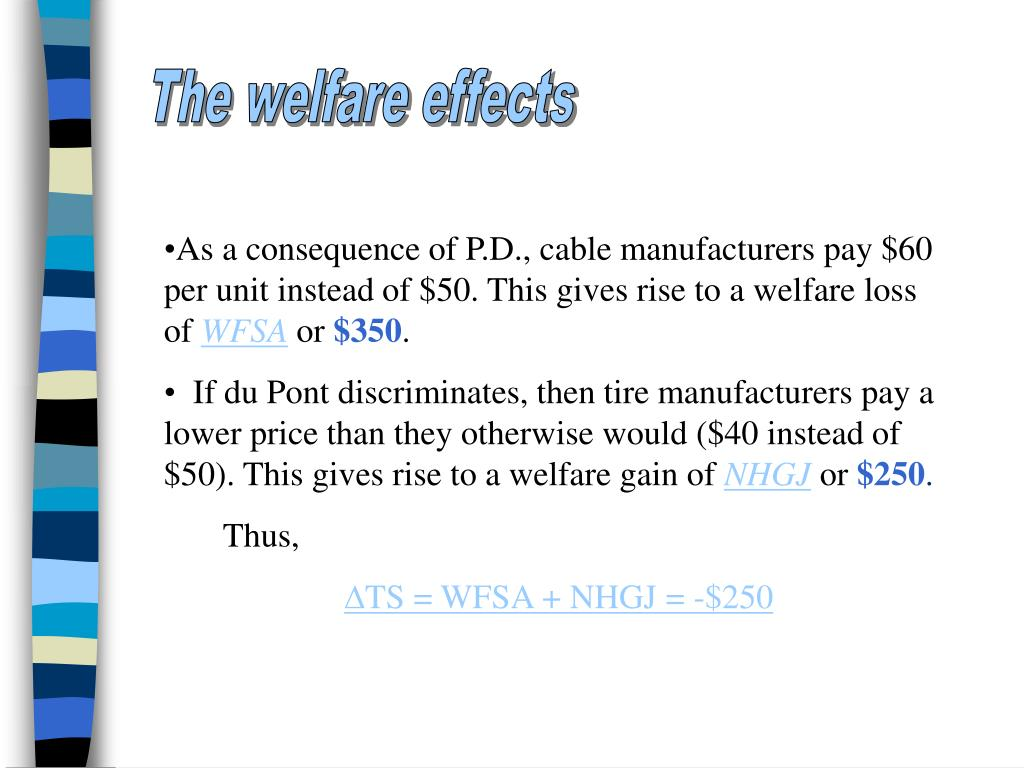 The welfare effects