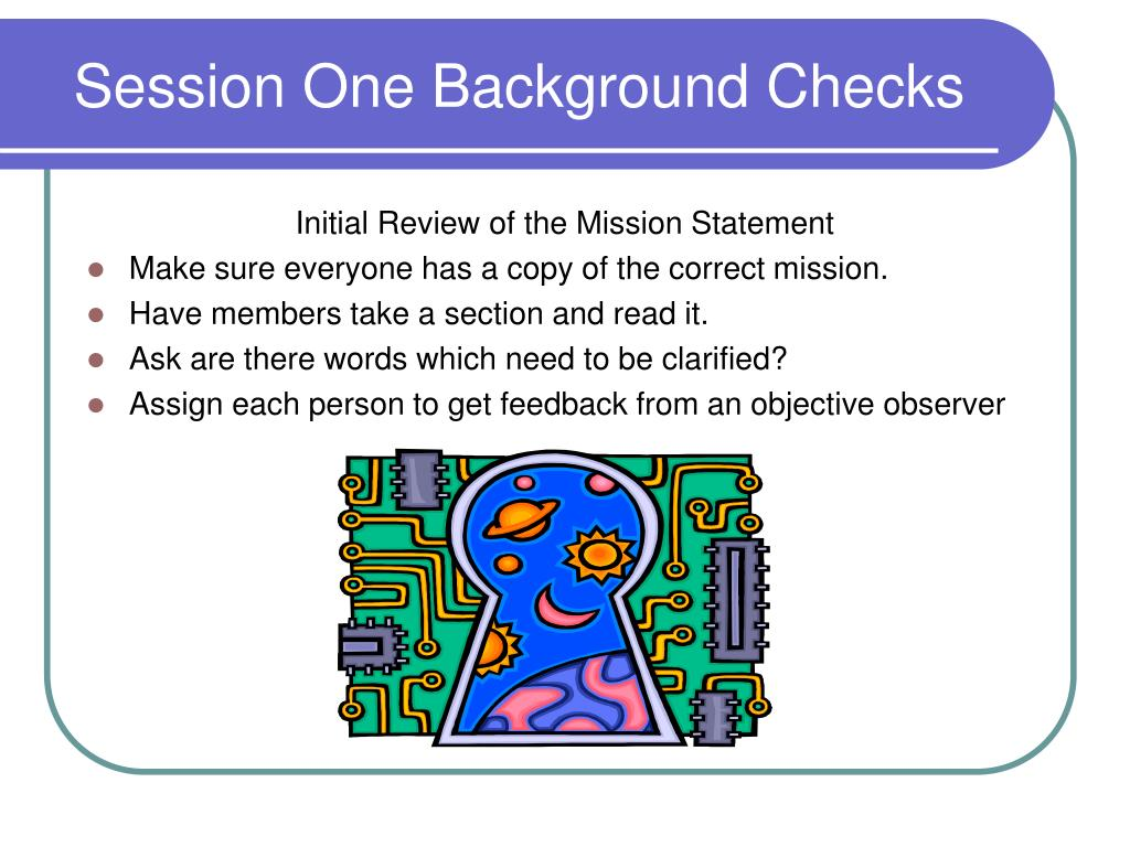 Session One Background Checks