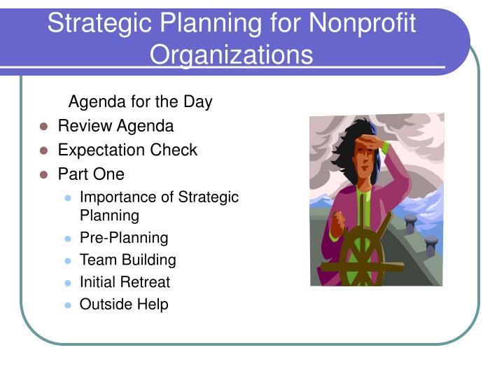 Strategic planning for nonprofit organizations3
