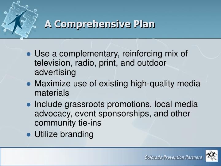 A Comprehensive Plan