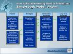 how is social marketing used in prevention sample logic model alcohol