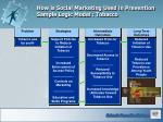 how is social marketing used in prevention sample logic model tobacco