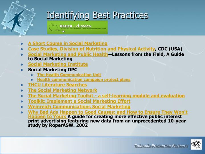 Identifying Best Practices