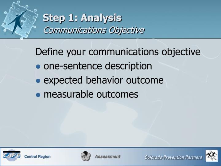 Step 1: Analysis
