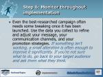 step 6 monitor throughout implementation2