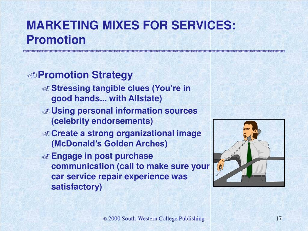 MARKETING MIXES FOR SERVICES: Promotion