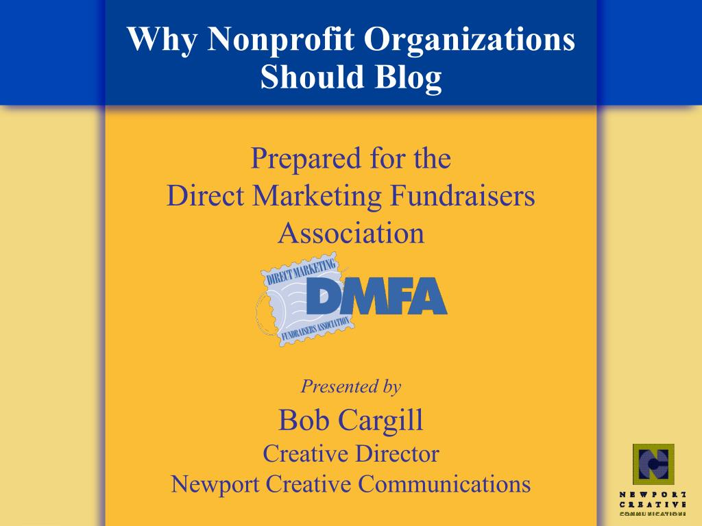 why nonprofit organizations should blog l.