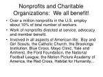 nonprofits and charitable organizations we all benefit