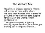 the welfare mix