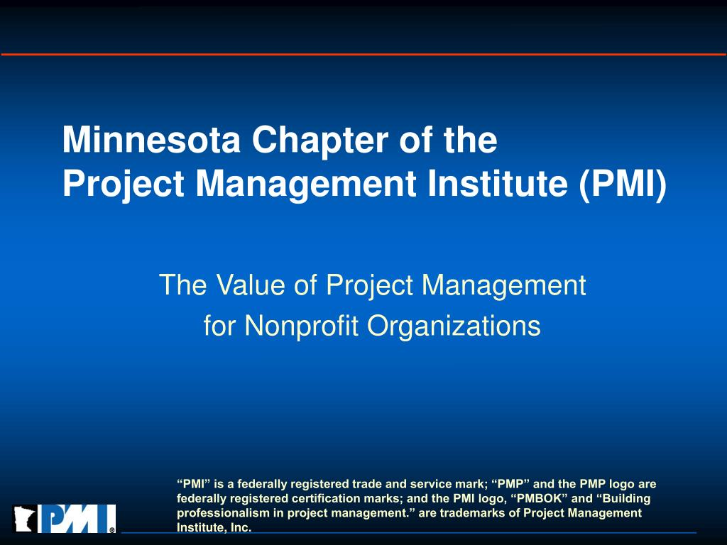 minnesota chapter of the project management institute pmi l.